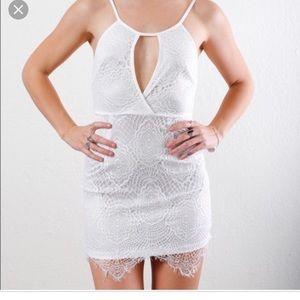 LF Dream State white lace dress